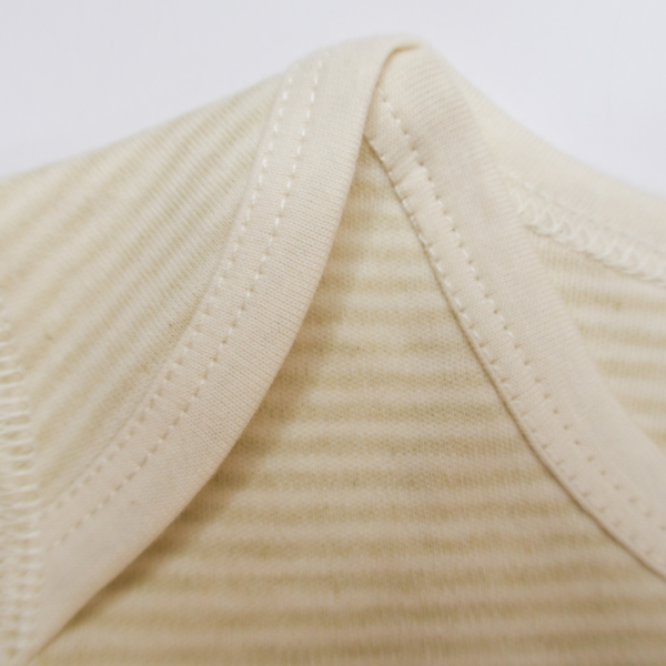 Organic Thin Striped Short Sleeve Bodysuit 2 Pack