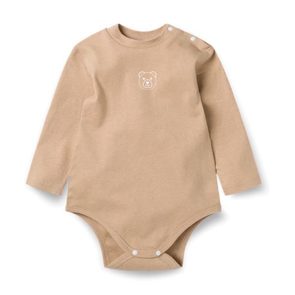 Organic Long Sleeve Brown Bodysuit