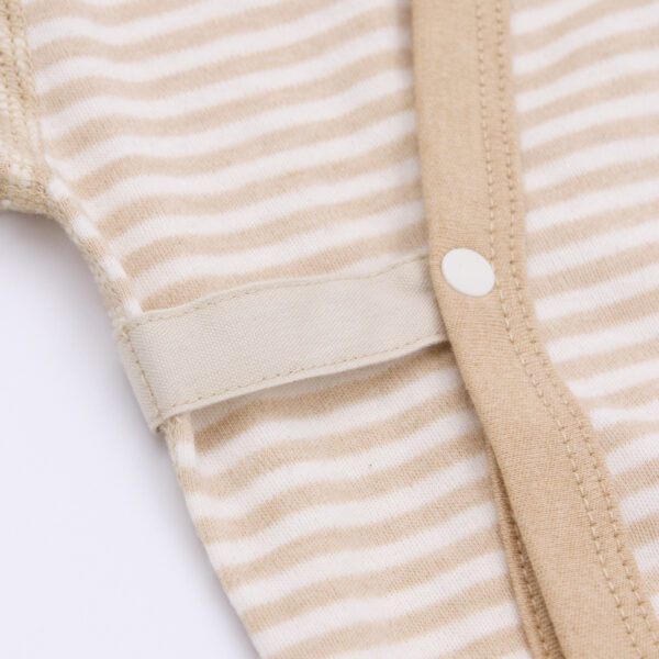 Ida Organic Striped Baby Romper