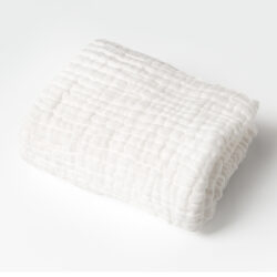 White 100% Organic Cotton Muslin Towel for Baby