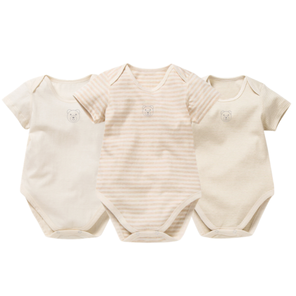Asta Organic Mixed Short Sleeve Bodysuit Collection - 3 Pack