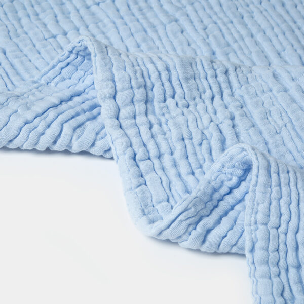 Organic Muslin Towel - Blue - 2 Pack
