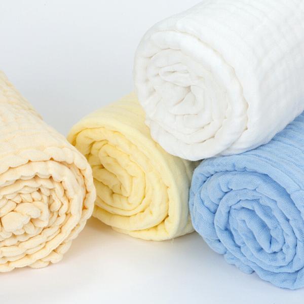 Organic Muslin Towel - White - 2 Pack