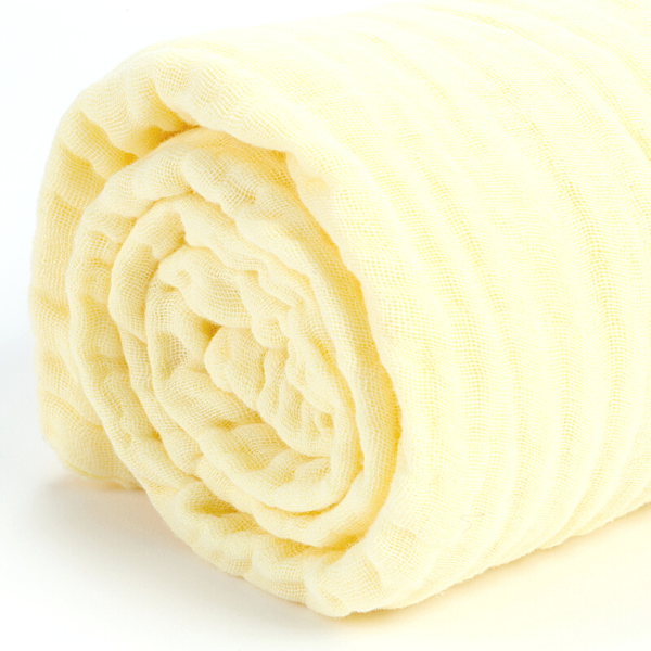 Koselig Organic Muslin - Yellow - 2 Pack
