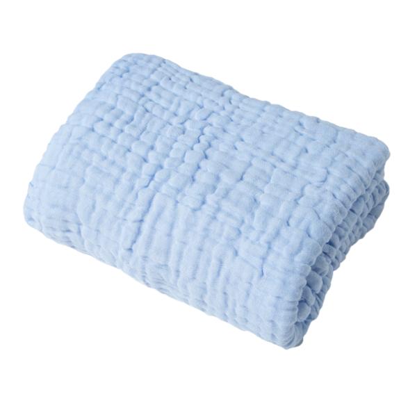 Organic Muslin Towel - Blue