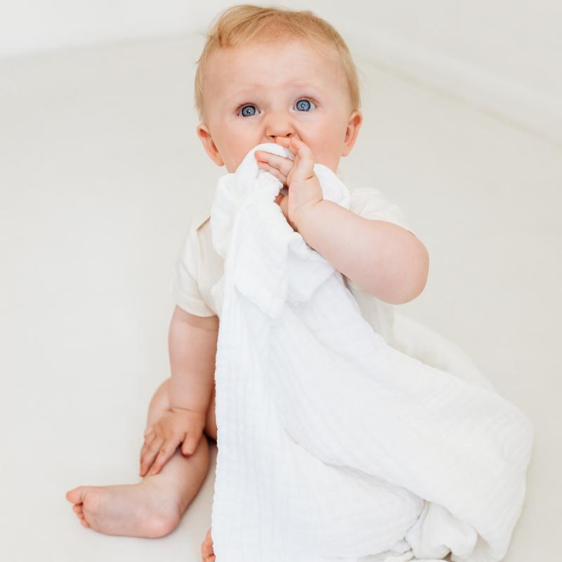 organic white baby muslin