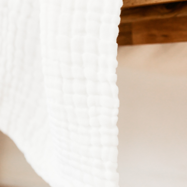 Koselig Organic Muslins - White - 2 Pack
