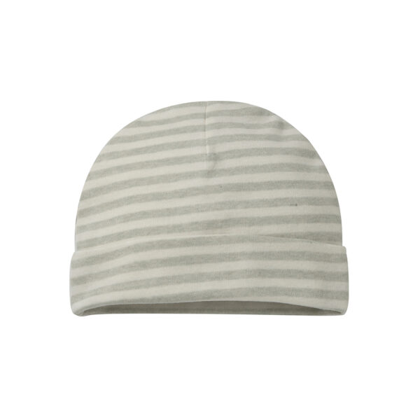 Freyr Green Striped Beanie Knitted Baby Hat