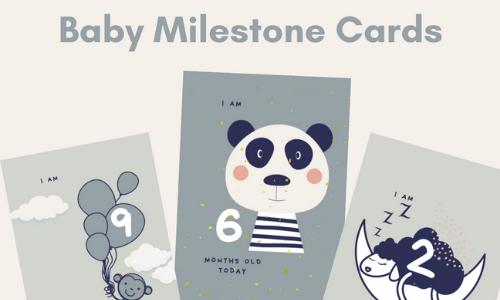 FREE Baby Milestone Cards